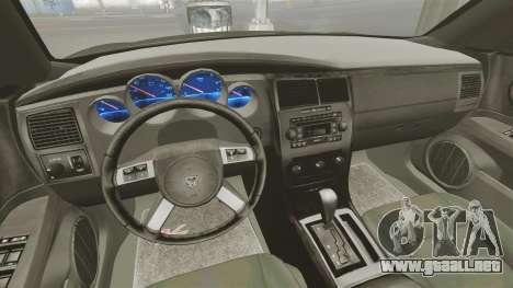 Dodge Charger RT Hemi FBI 2007 para GTA 4 vista hacia atrás