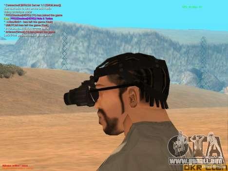 NV Goggles para GTA San Andreas tercera pantalla