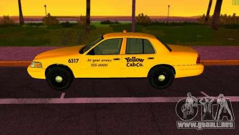 Ford Crown Victoria Taxi 2003 para GTA Vice City vista lateral izquierdo