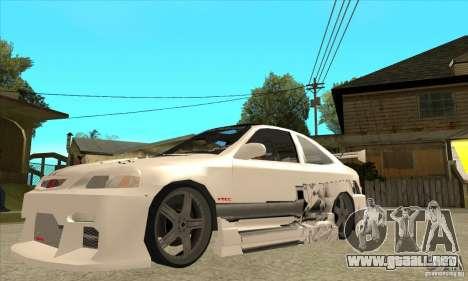 Honda Civic Tuning Tunable para vista inferior GTA San Andreas
