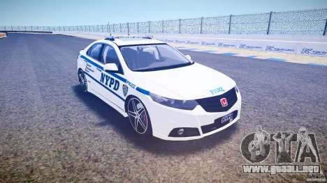 Honda Accord Type R NYPD (City Patro 1950l) ELS para GTA 4 vista hacia atrás