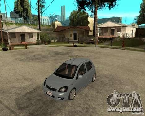 Toyota Vitz para GTA San Andreas