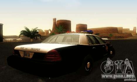 Ford Crown Victoria Texas Police para GTA San Andreas left