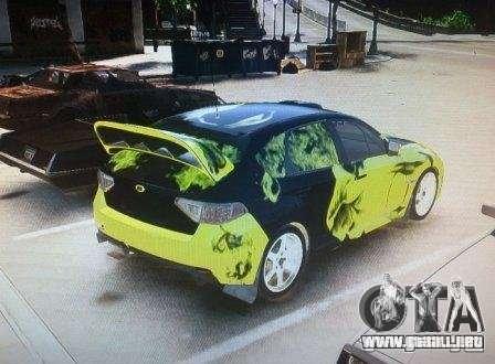 Subaru Impreza WRX para GTA 4 left