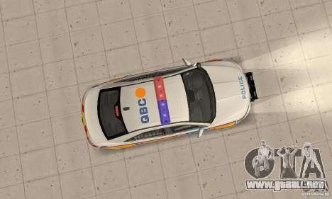 Ford Taurus 2011 Metropolitan Police Car para la visión correcta GTA San Andreas