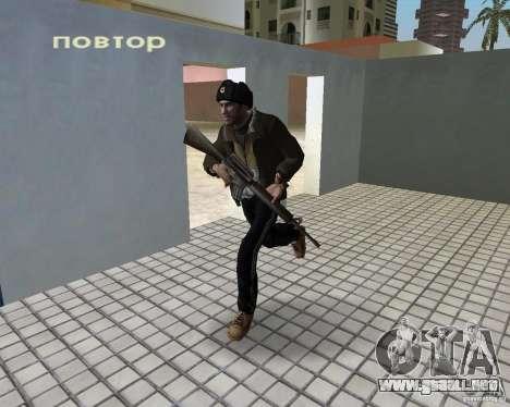 Niko Bellic en orejeras para GTA Vice City sucesivamente de pantalla