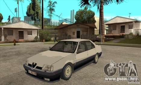 Alfa Romeo 164 para visión interna GTA San Andreas