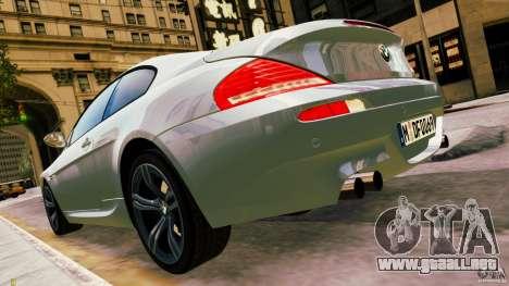 BMW M6 2010 para GTA 4 left