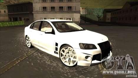 Holden HSV W427 para visión interna GTA San Andreas