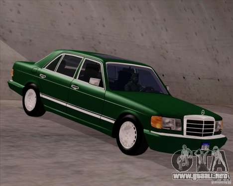 Mercedes-Benz 500SEL para GTA San Andreas vista posterior izquierda