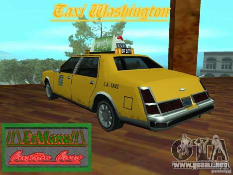 Taxi Washington para GTA San Andreas left