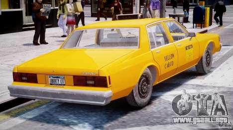 Chevrolet Impala Taxi 1983 [Final] para GTA 4 visión correcta