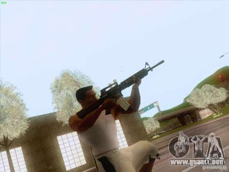 M16A4 para GTA San Andreas segunda pantalla