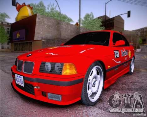 BMW M3 E36 1995 para GTA San Andreas vista hacia atrás