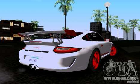 Porsche 911 GT3 RS para GTA San Andreas left