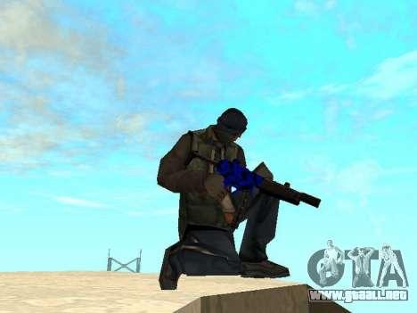 Blue and black gun pack para GTA San Andreas tercera pantalla
