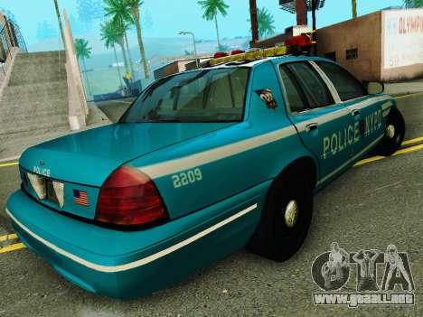 Ford Crown Victoria 2003 NYPD Blue para la visión correcta GTA San Andreas