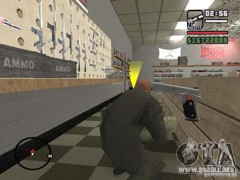 Silverballer de Hitman para GTA San Andreas quinta pantalla