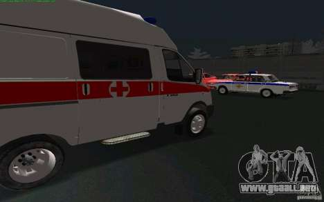 Ambulancia gacela 22172 para GTA San Andreas left