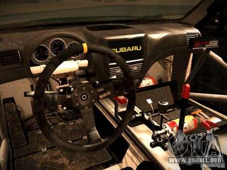 Subaru Impreza Gymkhana para vista lateral GTA San Andreas