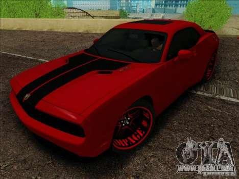 Dodge Quinton Rampage Jackson Challenger SRT8 v1 para la visión correcta GTA San Andreas