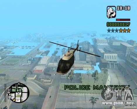 Helicóptero Zaprygivayem para GTA San Andreas quinta pantalla