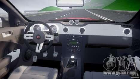 Saleen S281 Extreme - v1.2 para GTA 4 visión correcta