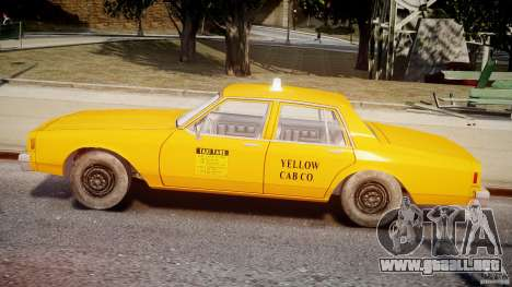 Chevrolet Impala Taxi v2.0 para GTA 4 Vista posterior izquierda