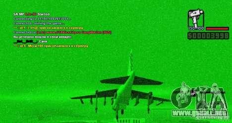 Ordenador de a bordo Hydra v1.0a para GTA San Andreas segunda pantalla