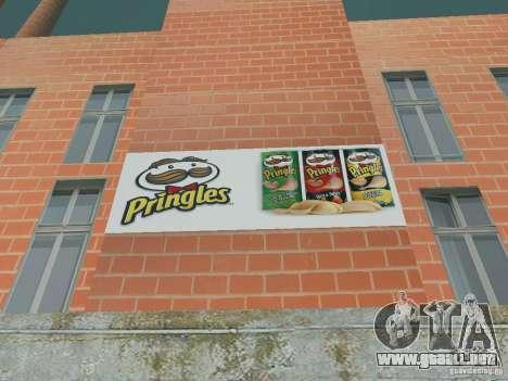 Pringles Factory para GTA San Andreas sucesivamente de pantalla