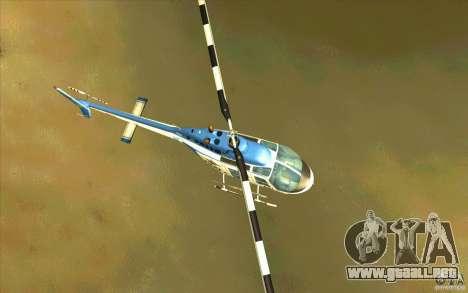 Bell 206 B Police texture1 para visión interna GTA San Andreas