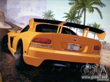 Dodge Viper SRT-10 ACR para GTA San Andreas left