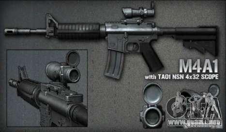 [Point Blank] M4A1 ext para GTA San Andreas