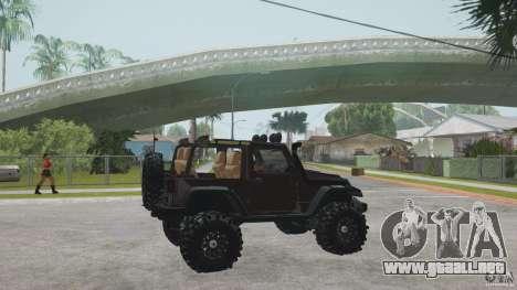 Jeep Wrangler Off road v2 para GTA San Andreas left