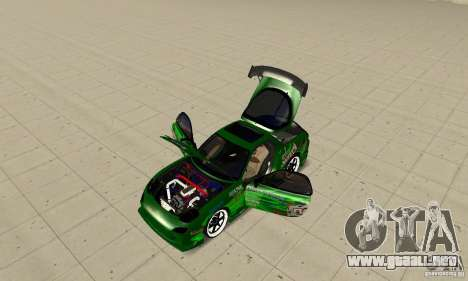 Mazda RX-7 ings para la visión correcta GTA San Andreas