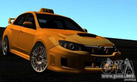 Subaru Impreza WRX STi 2011 TAXI para GTA San Andreas interior