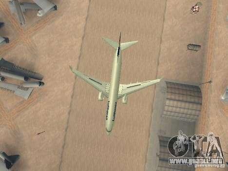 Boeing 737-800 Lufthansa para vista lateral GTA San Andreas
