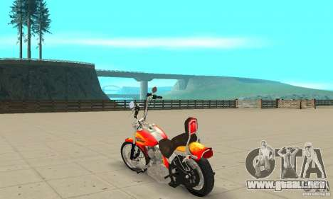 Harley Davidson softail Skin 2 para GTA San Andreas vista posterior izquierda