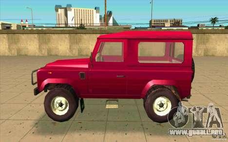 Land Rover Defender 90SW para GTA San Andreas left