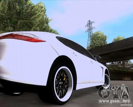 Porsche Panamera 970 Hamann para GTA San Andreas vista hacia atrás