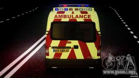 Renault Master 2007 Ambulance Scottish [ELS] para GTA motor 4