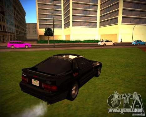 Mazda RX-7 FC3S para GTA San Andreas vista posterior izquierda