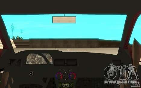 Mercedes-Benz 190 E (W201) 1984 version 1.0 para GTA San Andreas vista hacia atrás