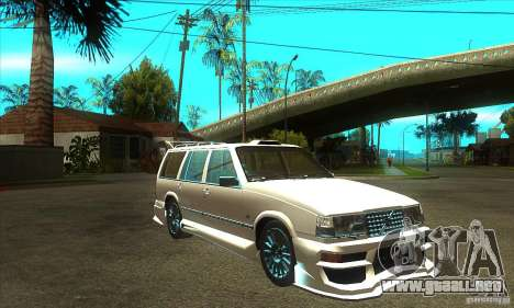Volvo 945 Wentworth R with bodykit (1.2) para GTA San Andreas vista hacia atrás