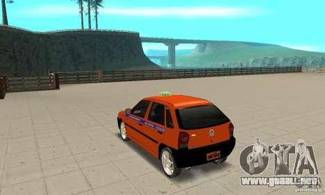 Volkswagen Gol G4 Taxi para GTA San Andreas vista posterior izquierda
