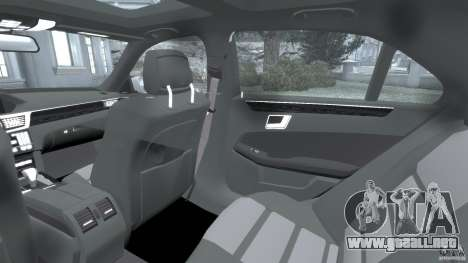 Mercedes-Benz E63 AMG para GTA 4 vista interior