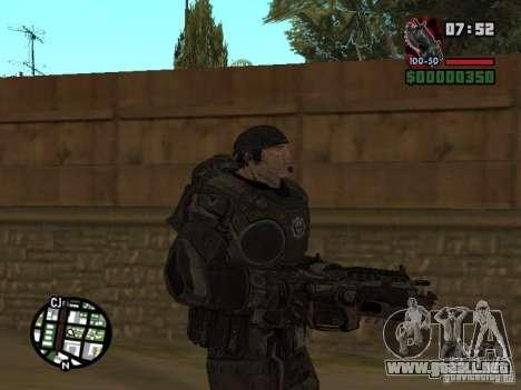 Marcus Fenix de Gears of War 2 para GTA San Andreas segunda pantalla