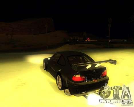 BMW E46 M3 GTR - Stock para GTA San Andreas left