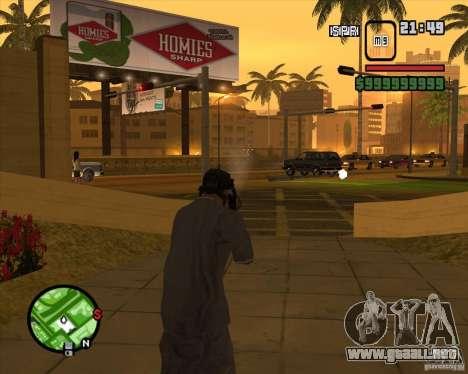 Campanas y silbatos para armas para GTA San Andreas novena de pantalla