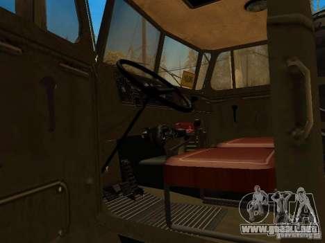 Ural 4320 para la visión correcta GTA San Andreas